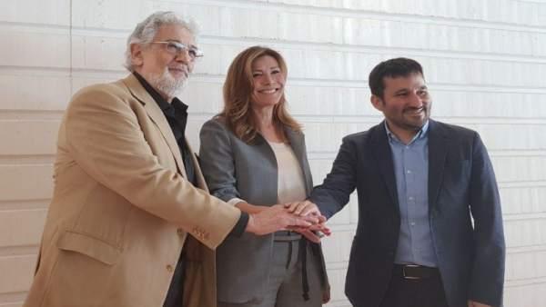 Plácido Domingo, Susana Lloret y Vicent Marzà
