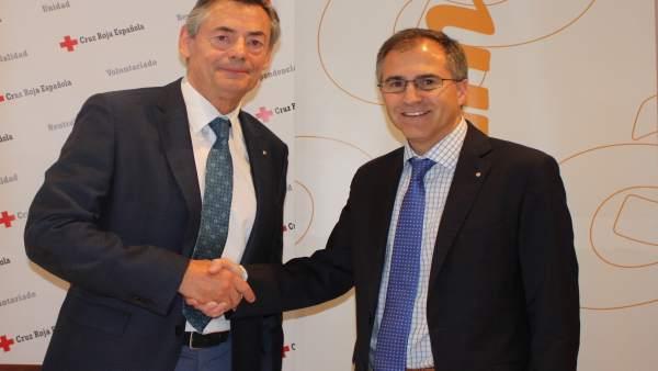Durich y Gimeno, en la presentación del convenio