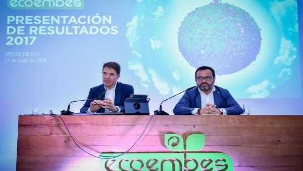 Óscar Martín, consejero de Ecoembes, e Ignacio González, presidente de Ecoembes