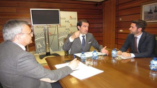 Reunión entre el Ayuntamiento de Zamora y el consejero de Fomento. 17-5-2018