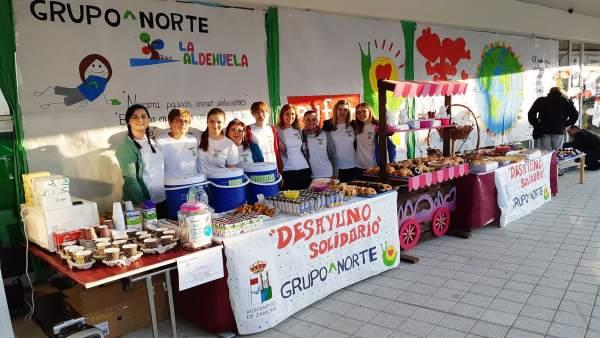 Colaboradores del Desayuno Solidario.