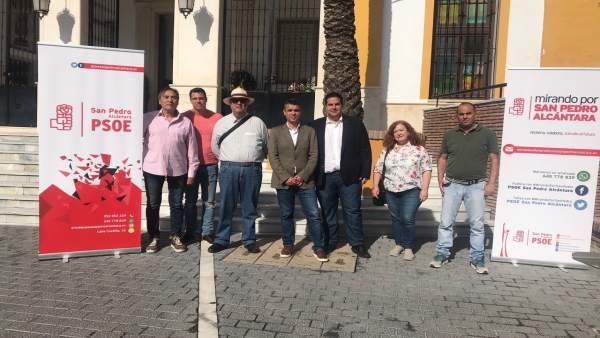 Bernal (PSOE)  en San Pedro