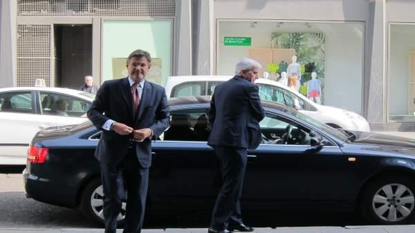El ministro de Justicia, Rafael Catalá, a su llegada al Patio de la Infanta