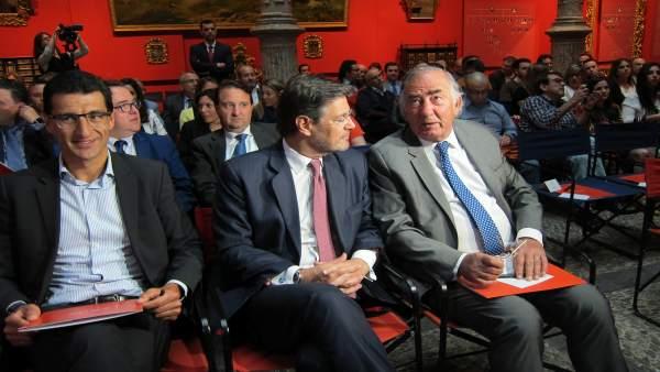 El ministro de Justicia, Rafael Catalá, hoy en Ibercaja Patio de la Infanta