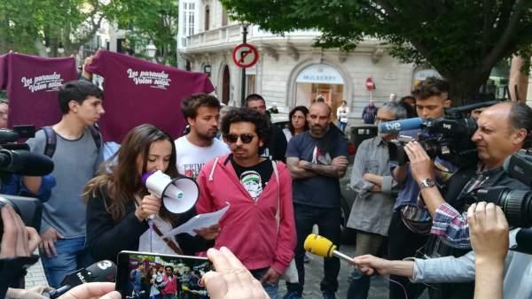 Manifestación de apoyo a Valtonyc