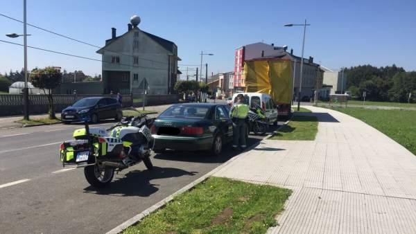 Control de la Guardia Civil de Tráfico de A Coruña