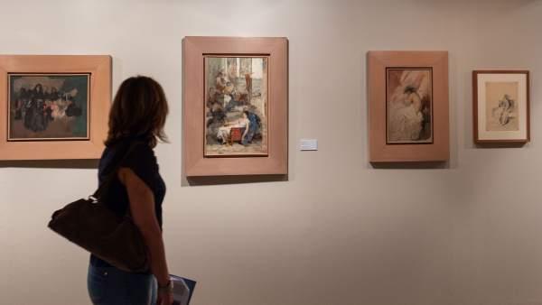 Algunos cuadros de la exposición 'El espíritu de una época: Ignacio Pinazo en la Colección del IVAM'