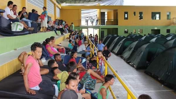 Evacuados en Colombia