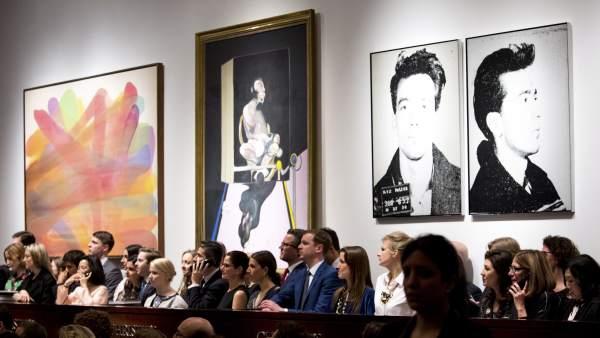 Subasta de arte contemporáneo