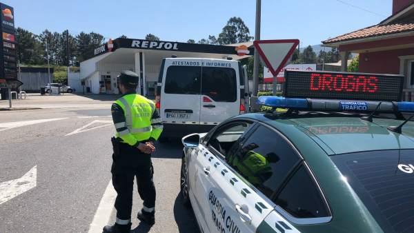Interceptado un conductor ebrio en un control en Catoira (Pontevedra)