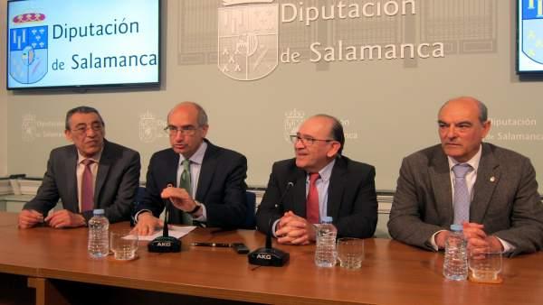 Firma del acuerdo con la Diputación de Salamanca