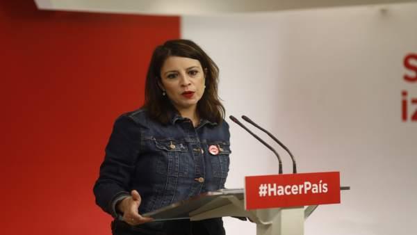 Vicesecretaria general del PSOE, Adriana Lastra