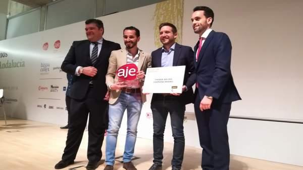 Entrega de premios AJE 2018 a Genially