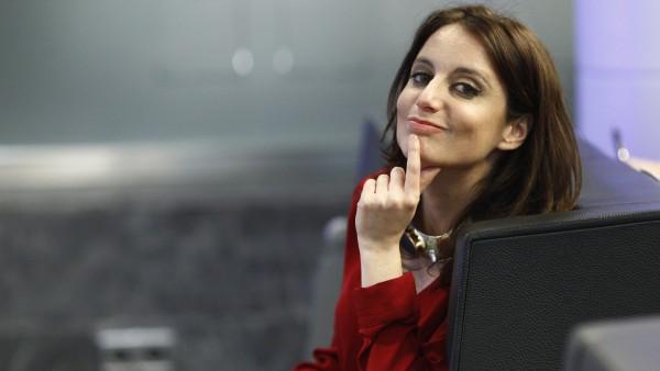 Andrea Levy en la sede del PP, en una imagen de archivo.
