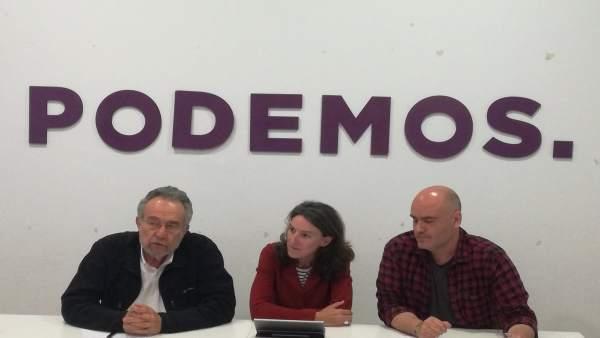 Rueda de prensa de el diputado Pedro Arrojo y la portavoz de VALC, María Oliver
