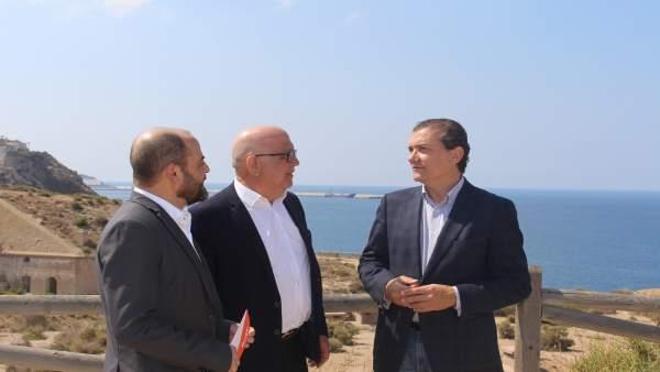 José Luis Martínez, Manuel Padín y Miguel Garaulet de CS