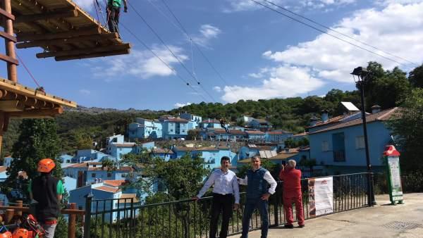 Elias bendodo francisco lozano aldea azul júzcar ex pueblo pitufo aventuras