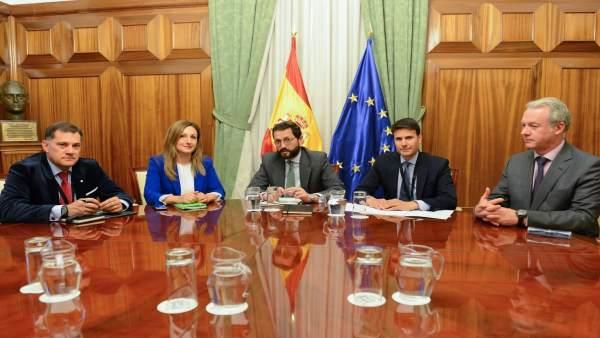 Reunión Carreño Subsecretario Ministerio Agricultura. Pago seguro agrario