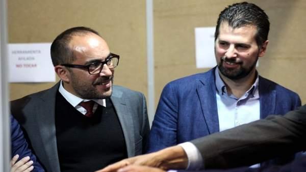 Soria.- Luis Rey (presidente Diputación Soria) y Luis Tudanca.