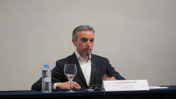 Pérez Pont en rueda de prensa. Archivo
