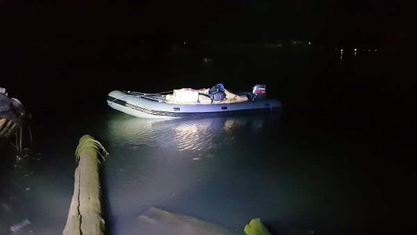 Embarcación con droga intervenida en Barbate