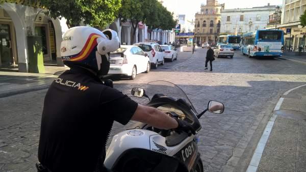Patrulla seguridad ciudadana en Jerez