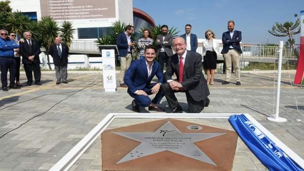Damián Quintero karateca y Alcalde Francisco de la Torre