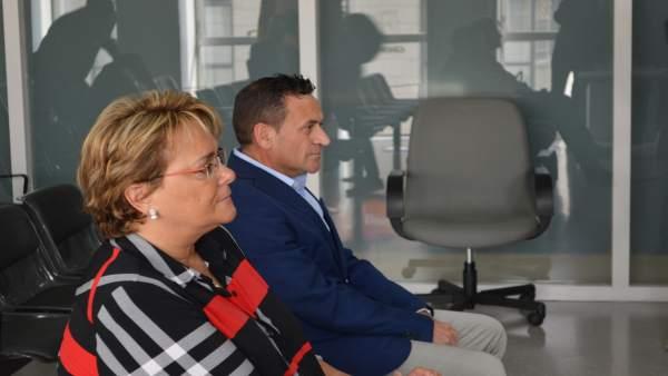 Marlen Minguell y Gerard Serra en el Juzgado Penal 2