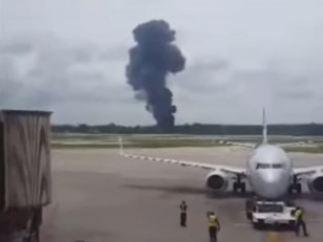 Avión estrellado en Cuba