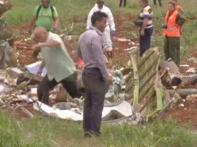 Avión accidentado en Cuba