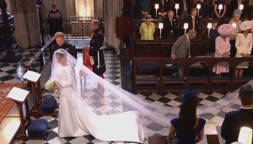 Meghan Markle llega al altar