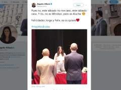 Begoña Villacís bromea con la boda de Harry y Meghan