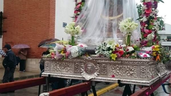 Romería de la Virgen de Alarcos, suspendida por lluvia