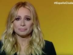 Marta Sánchez canta el himno de España y llora emocionada en un acto de Ciudadanos