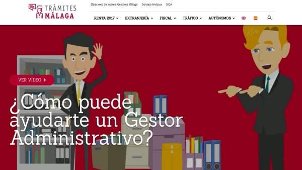 Web nueva del Colegio de Gestores Administrativos de Málaga