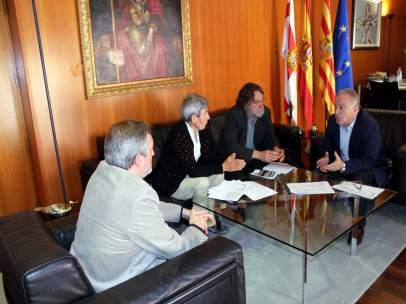 Imagen de la reunión mantenida.