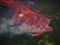 Un herido grave tras ser alcanzado por la lava del volcán Kilauea