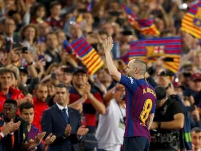 Andrés Iniesta se despide del Camp Nou.