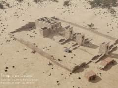 Reconstruyen en 3D cómo era el templo de Debod en su ubicación original en 1819