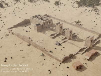 El templo de Debod en 1819