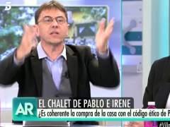 Dura polémica entre Monedero e Inda tras un comentario sobre los hijos de Pablo Iglesias e Irene Montero