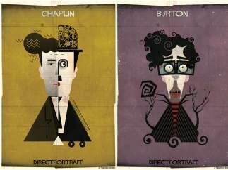 Charles Chaplin y Tim Burton