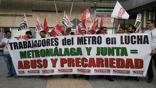 Movilización de los trabajadores del Metro de Málaga