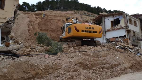Trabajos en el cerro Pui Pinos de Alcañiz