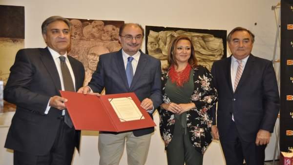 José Luis Corral ha recibido el Premio de las Letras Aragonesas 2018.