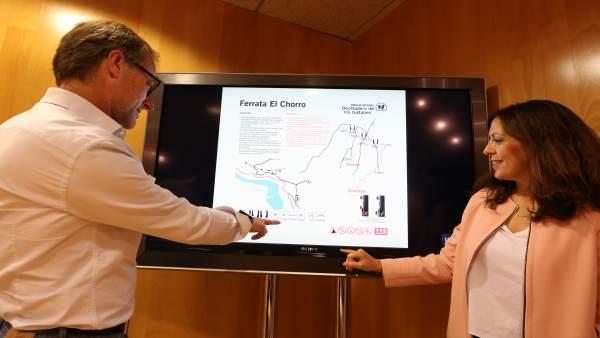 Presentación de la Vía Ferrata en el Chorro