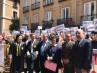 Jueces y fiscales se concentran ante el Ministerio de Justicia