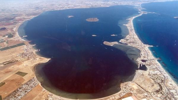 Vista aérea del Mar Menor