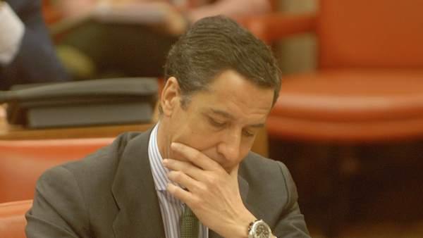 Eduardo Zaplana en la seua etapa de portaveu en el Congrés