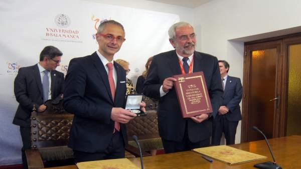 Rectores de USAL y UNAM firman los convenios, 22-5-18